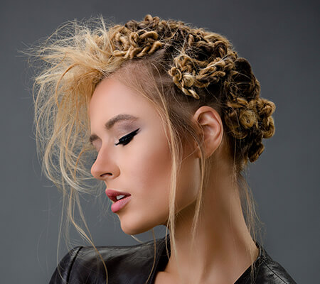 hair style with twisted braids